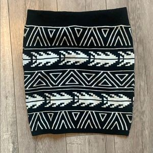 Sweater fabric mini stretch skirt